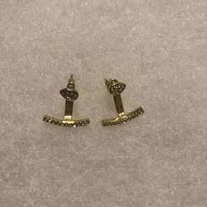 Convertible Gold Pavé Earrings